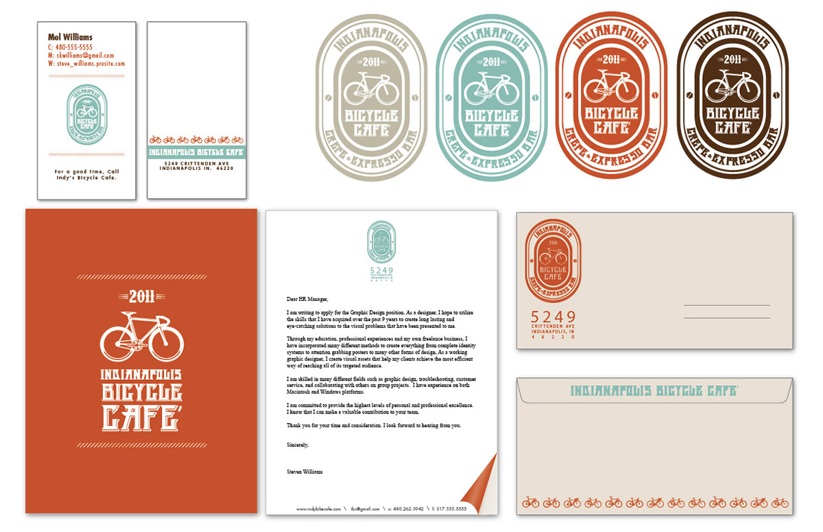 Indianapolis Bicycle Cafe Branding On Behance