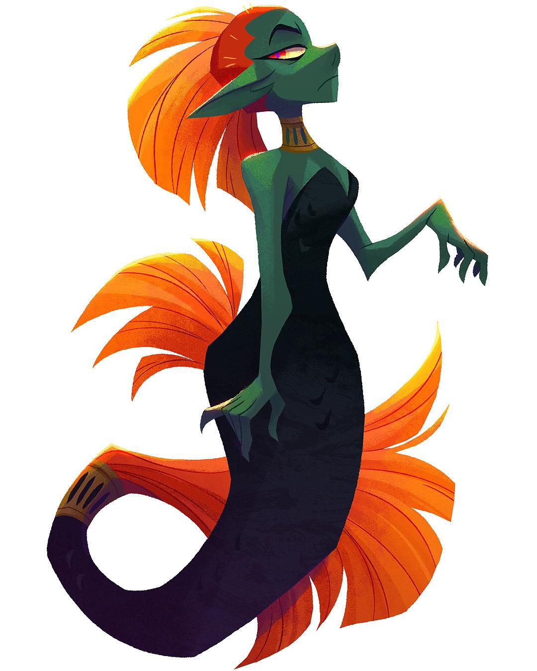 cartoon Character design  character development fantasy mermaid mermay VisDev Visual Development