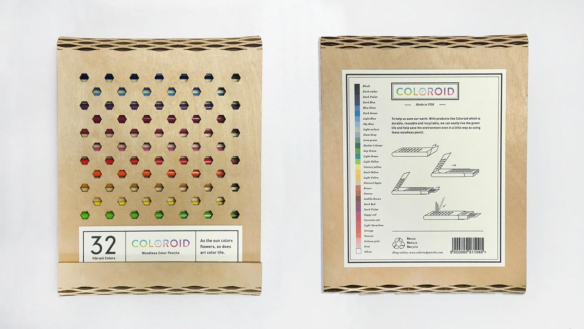 color pencil organizer home decor gradient handmade