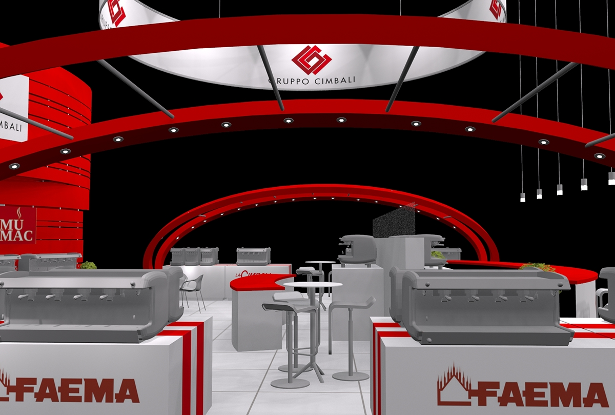 cimbali exhibition stand stand design Exhibition Stand Design booth design