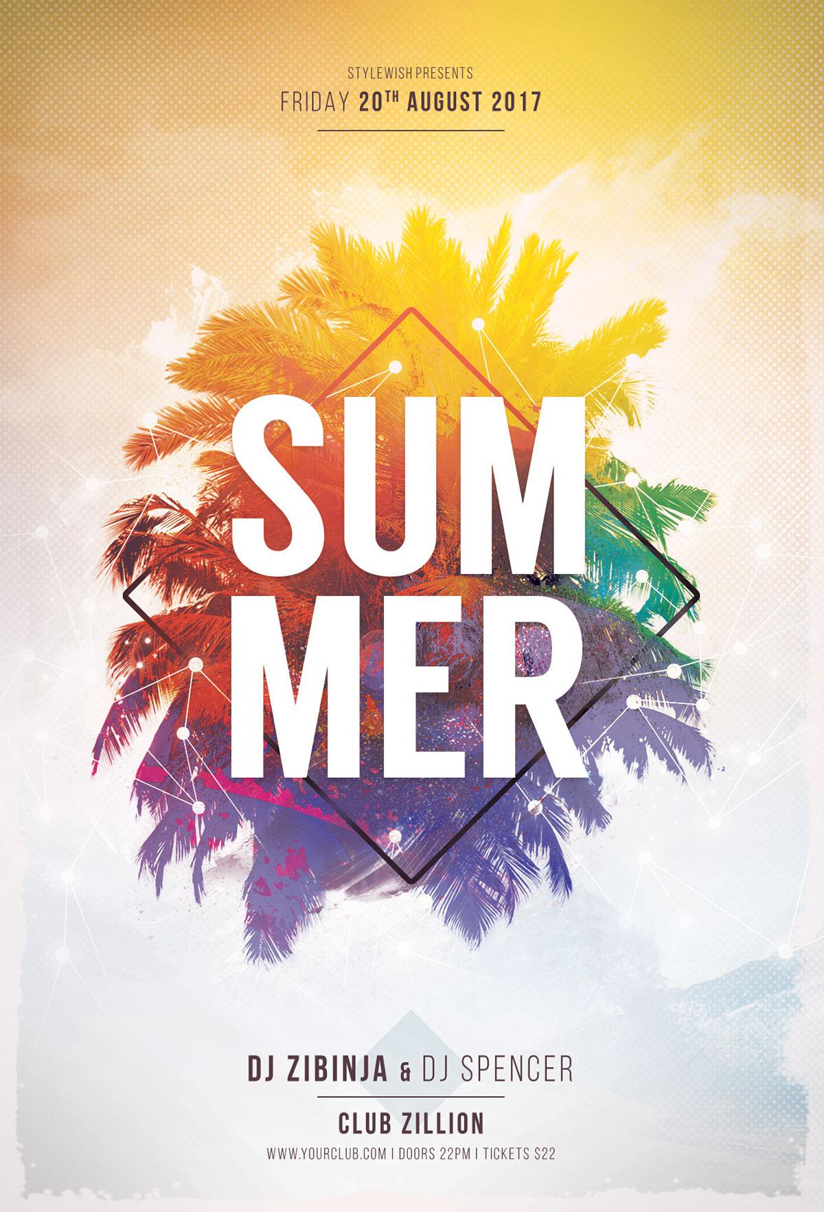 summer poster designs on behance