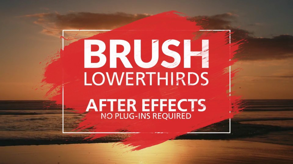 Brush Lower Thirds - 3