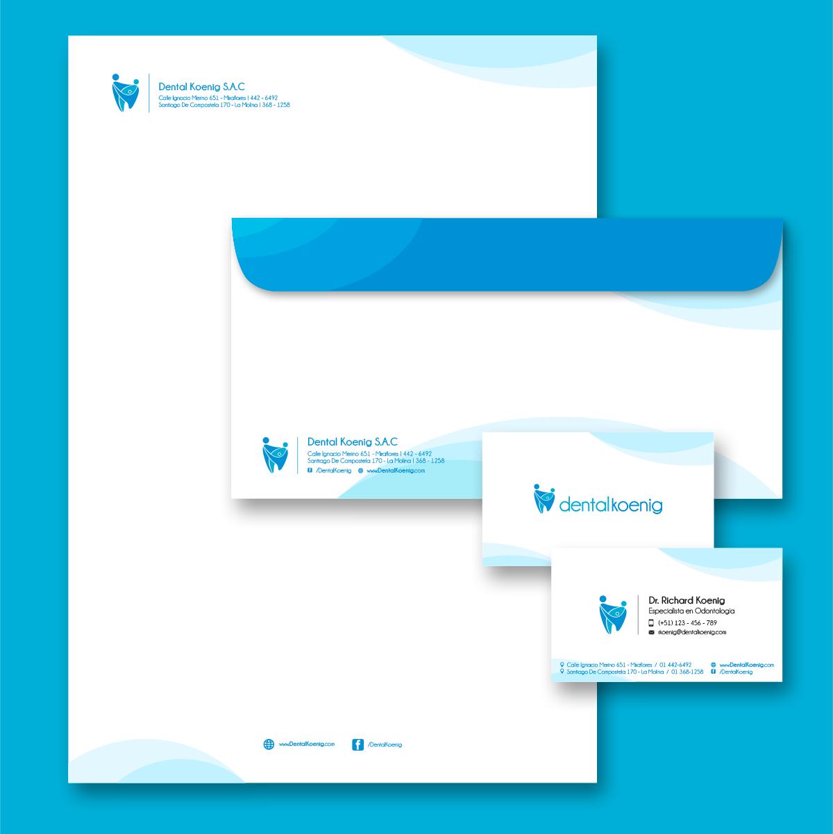 Logotipo Clinica Dental  Dental Koenig branding  Creación de marca