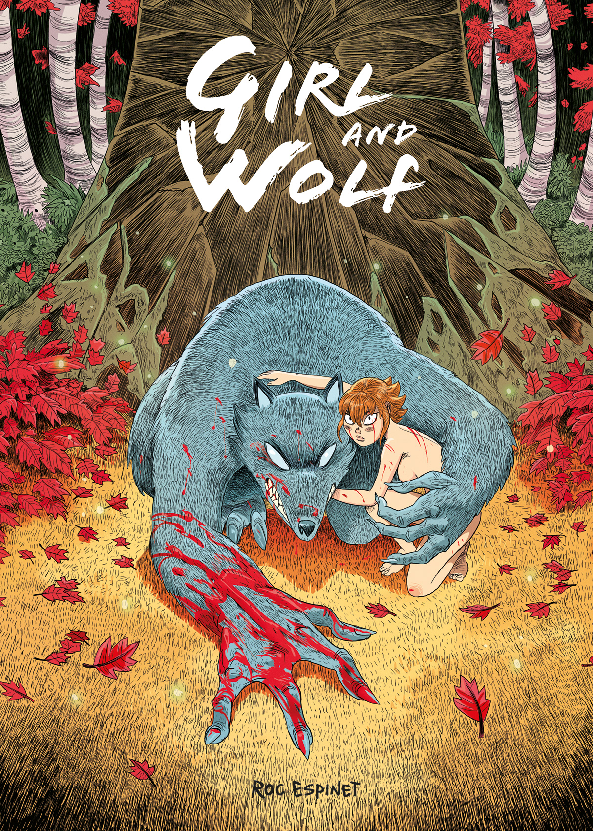 comic bd wolf girl sexy trees forest woods cover 2D crowdfunding comics wolves