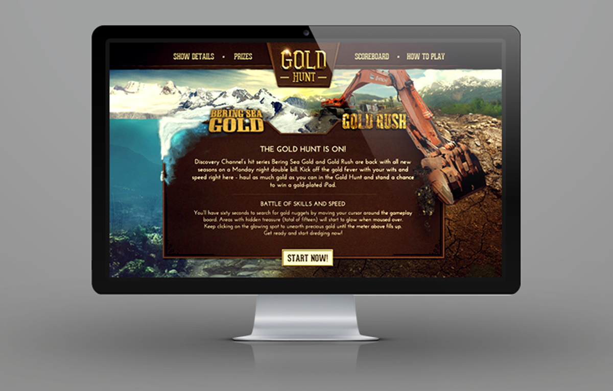 Discovery Channel Asia - Gold Hunt Game on Behance
