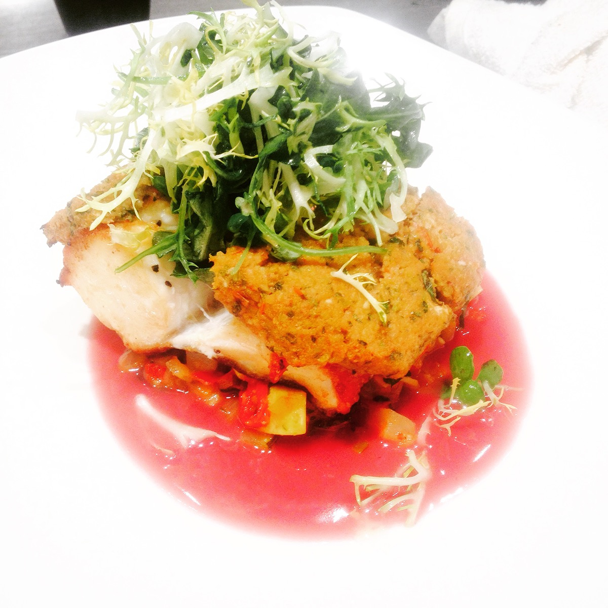 atouilleParmesan crusted Atlantic black cod, seasonal root vegetable ...