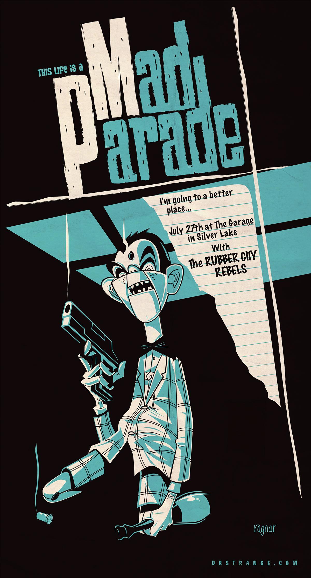 GigPoster punk rock mad parade