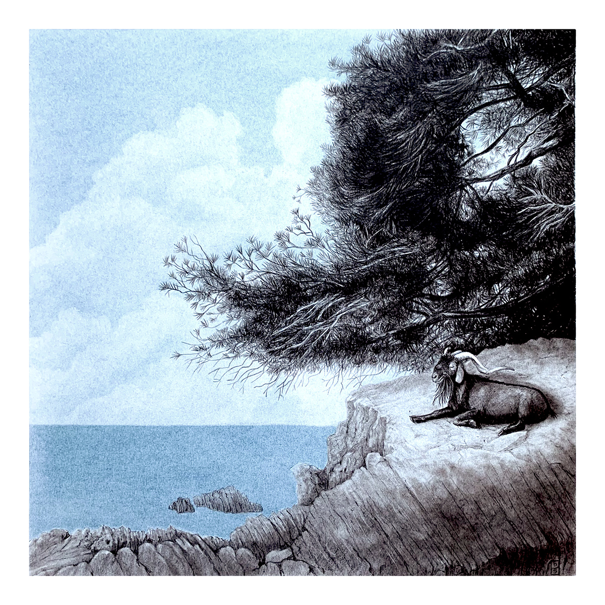 blue goat Tree  water