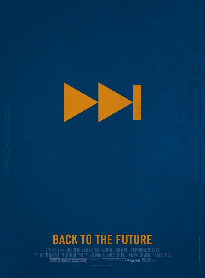 Минималистические постеры назад в будущее