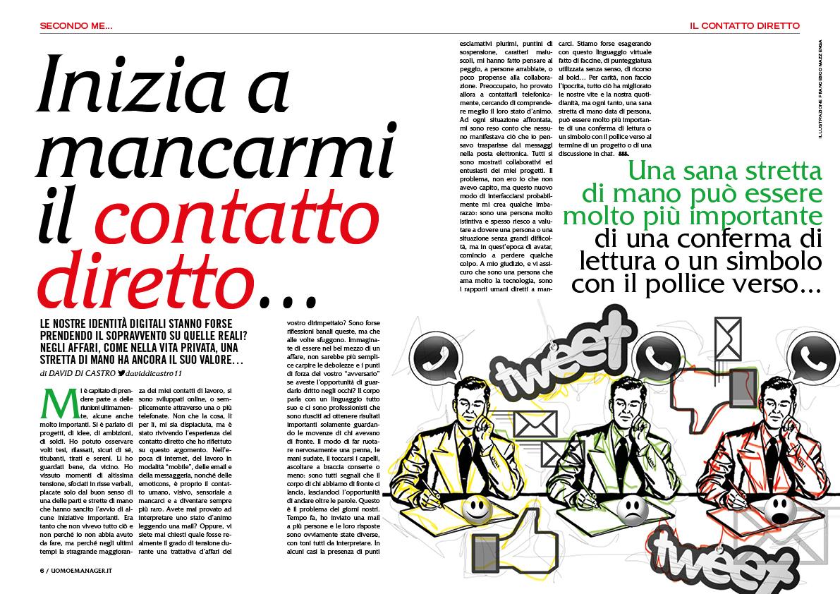 illustrazioni Uomo&Manager Lusso Style magazine Francesco Mazzenga