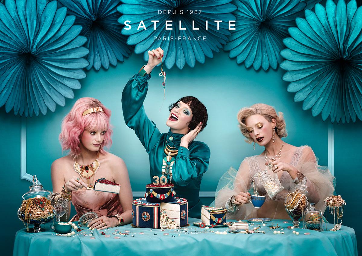 Bijoux satellite turquoise