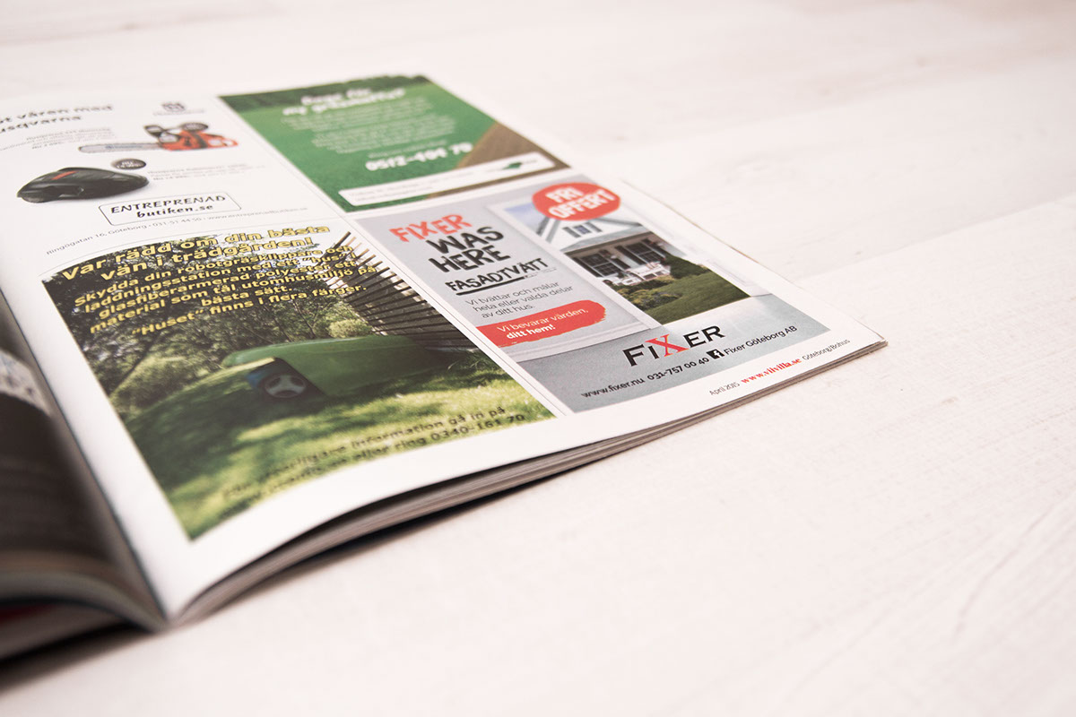 magazine ad house Fixer Layout InDesign in-design brand