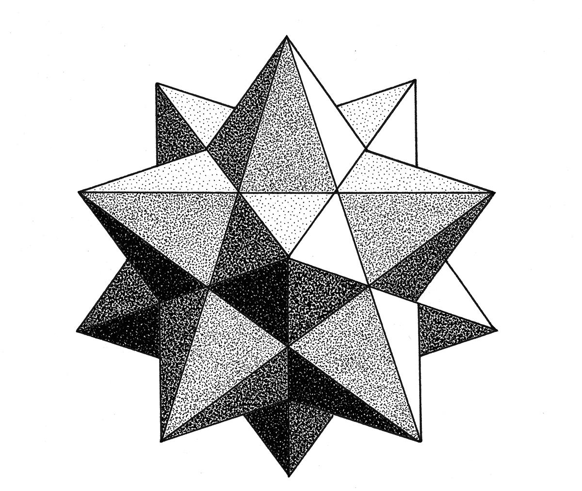 Line Art Design Geometry : Dotwork geometric on behance