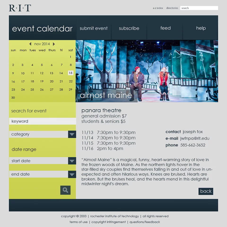 The objective for this assignment was to create a visually engaging and captivating event calendar, landing, and informative event details web page using ...