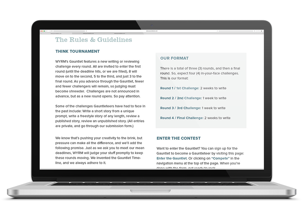 Website literature type contest Competition indie fiction
