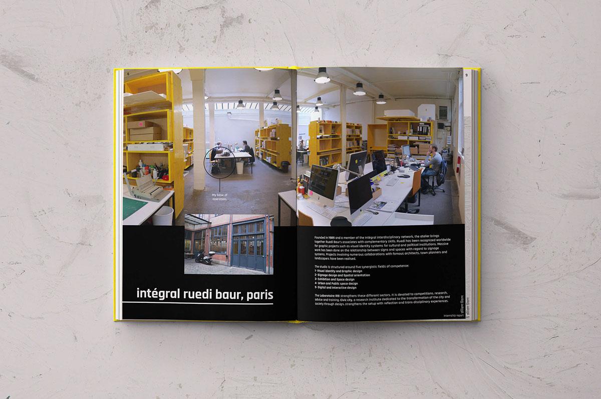 internship report design Paris French ruedi baur Layout grid font adobeawards