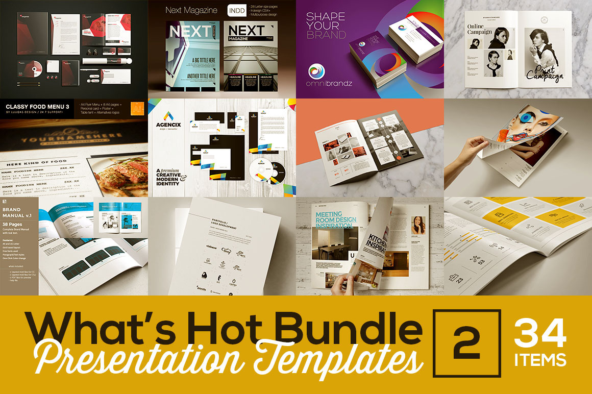 what's hot bundle vol.2 – presentation templates on behance, Presentation templates