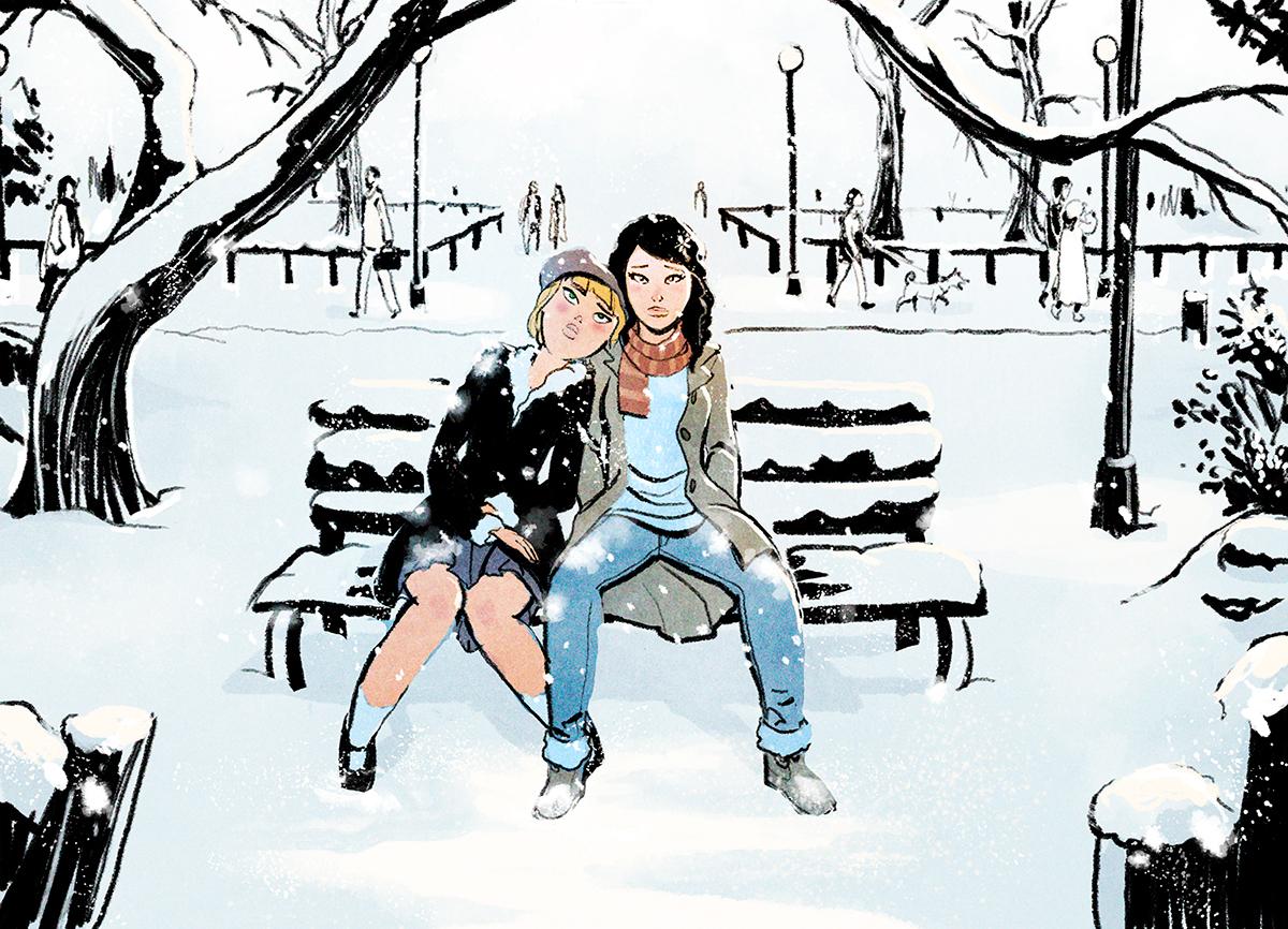 Roc roc espinet espinet lesbian comic bd bandeedesine Love lonely romance Slice of life