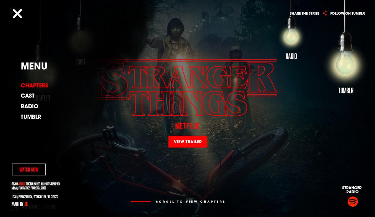 Stranger Things // Stranger Radio on Behance
