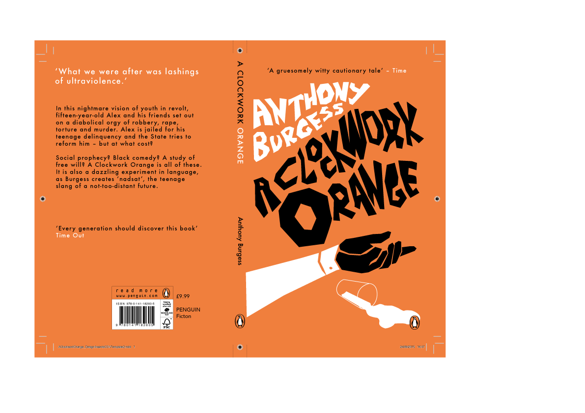 Penguin Book Cover Competition : Penguin book cover competition a clockwork orange on