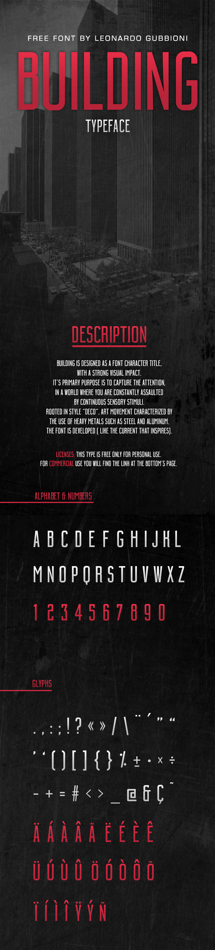 free typo type font Typeface building deco artdeco art deco Free font free typeface condesed free fonts fonts