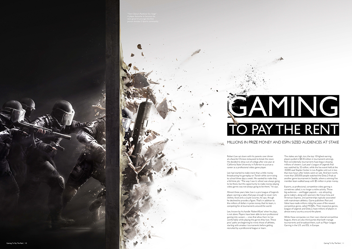 Editorial Who Is Looking Out For These >> Gaming To Pay The Rent Editorial Brief On Behance