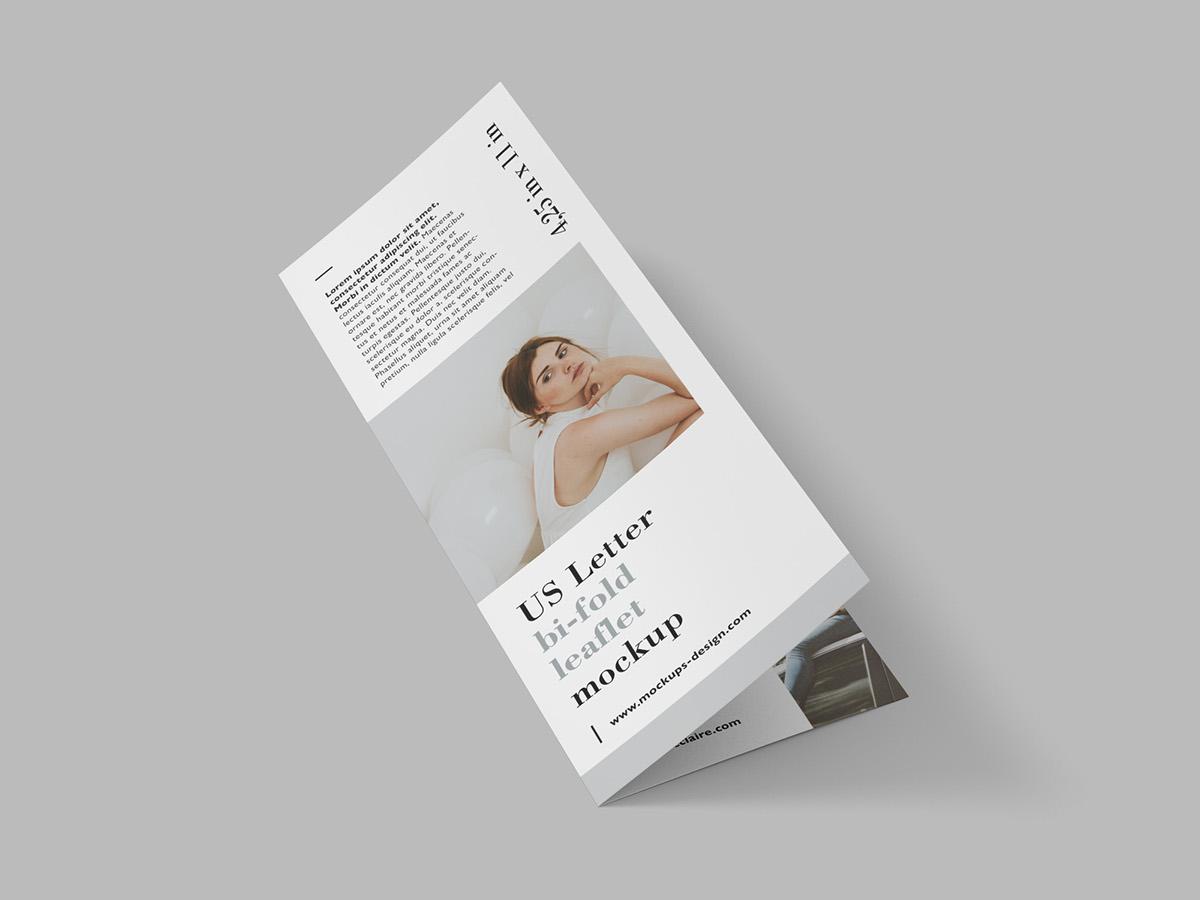 Free Us Letter Bi-Fold Leaflet On Behance