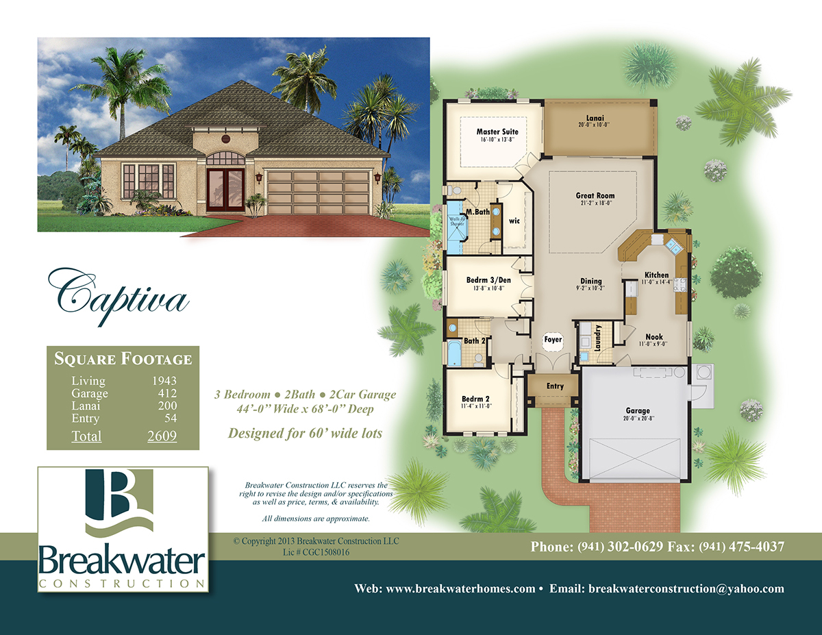 Color floor plan and brochure samples on behance House plan sample