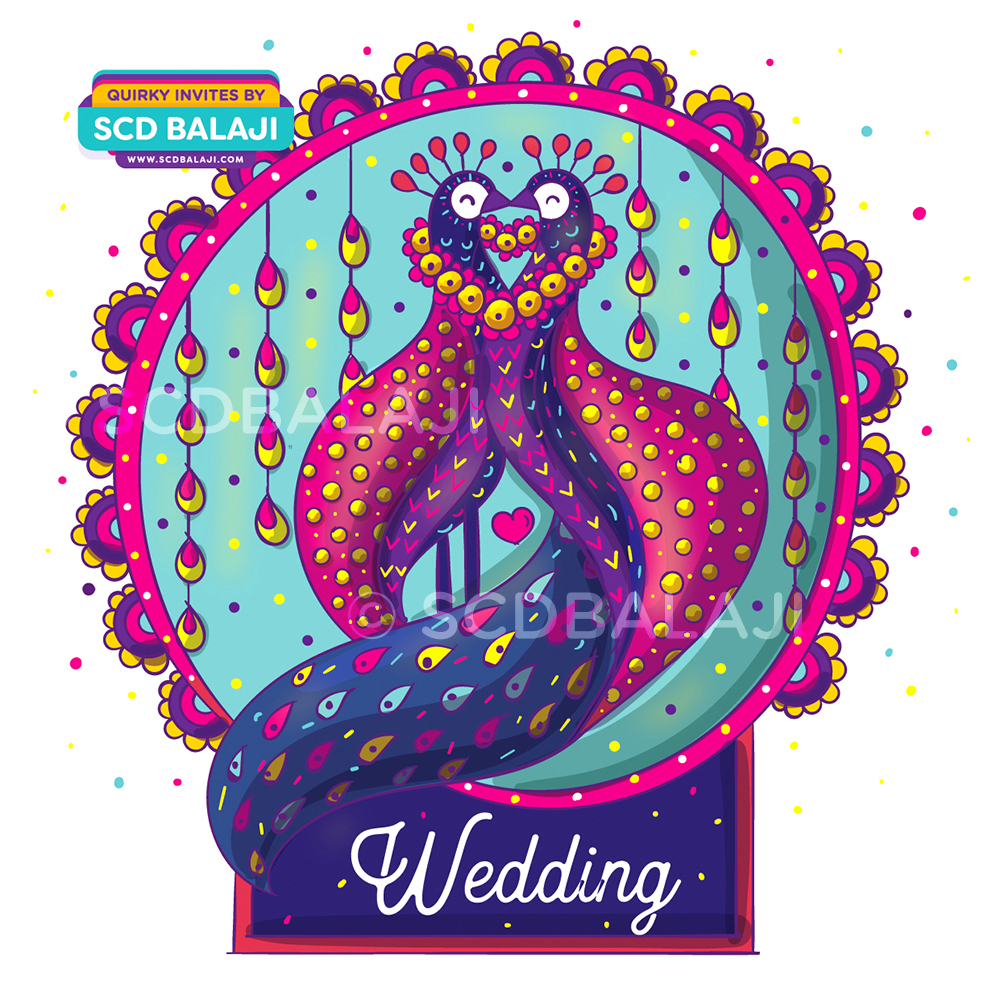 Alebrije mexican art indian wedding invitation suite on behance peacock wedding invitation design reception invitation card front wrapper design stopboris Gallery