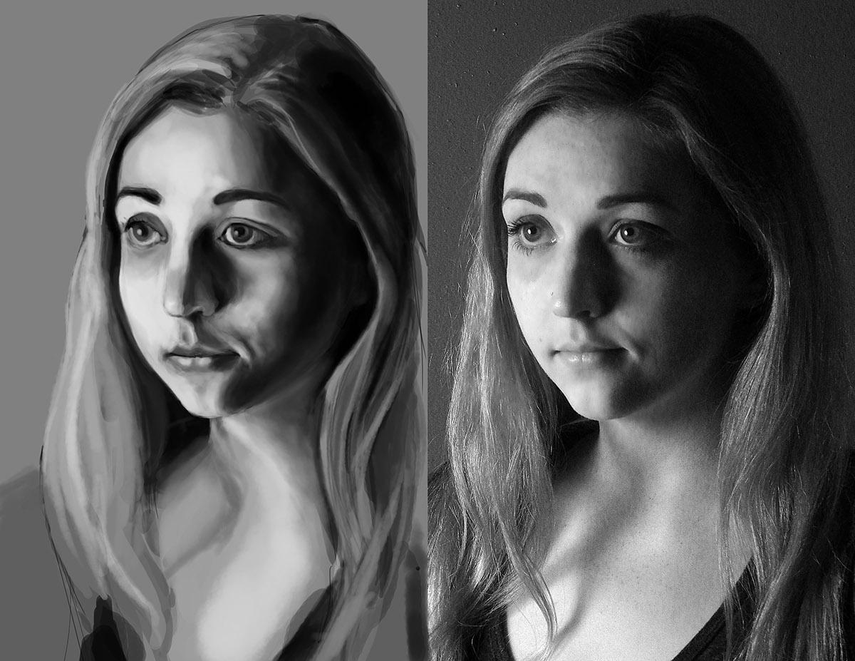 digital portrait photoshop