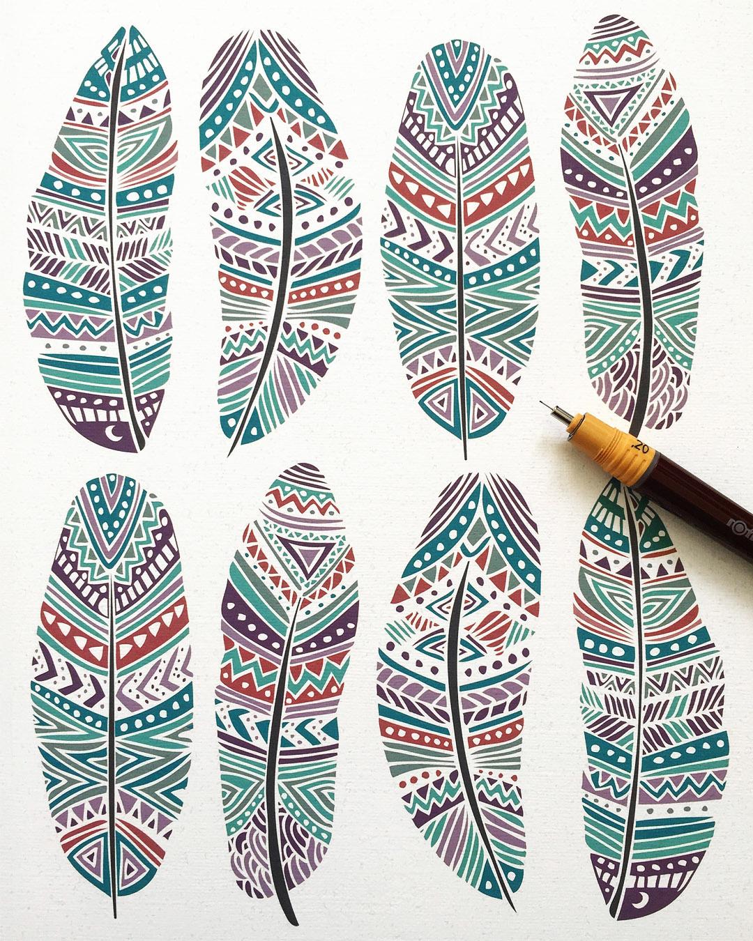 Tribal ethnic pattern designs on behance for Pattern design ideas