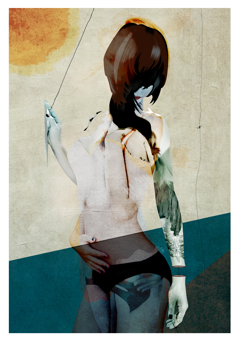 ILLUSTRATION  Metamorphosis overlap textures paint print Drawing  shop