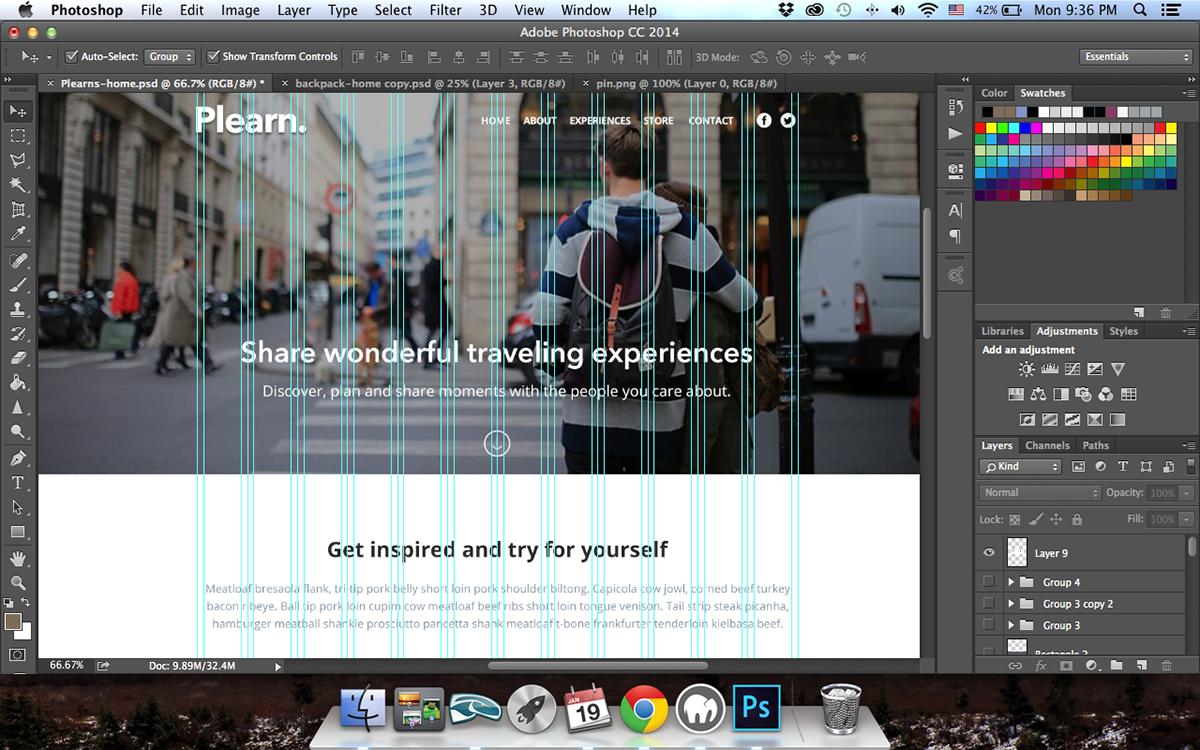 Plearn : Web Design Template on Behance