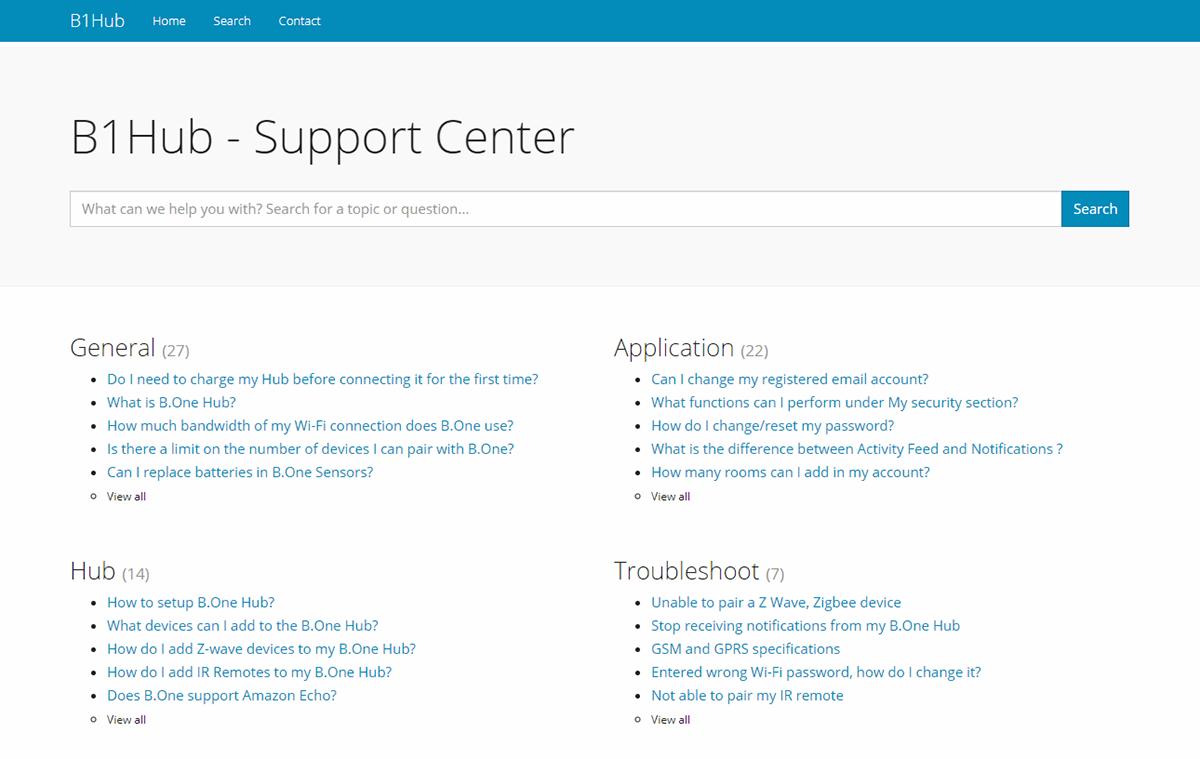 B1Hub Support Center on Behance