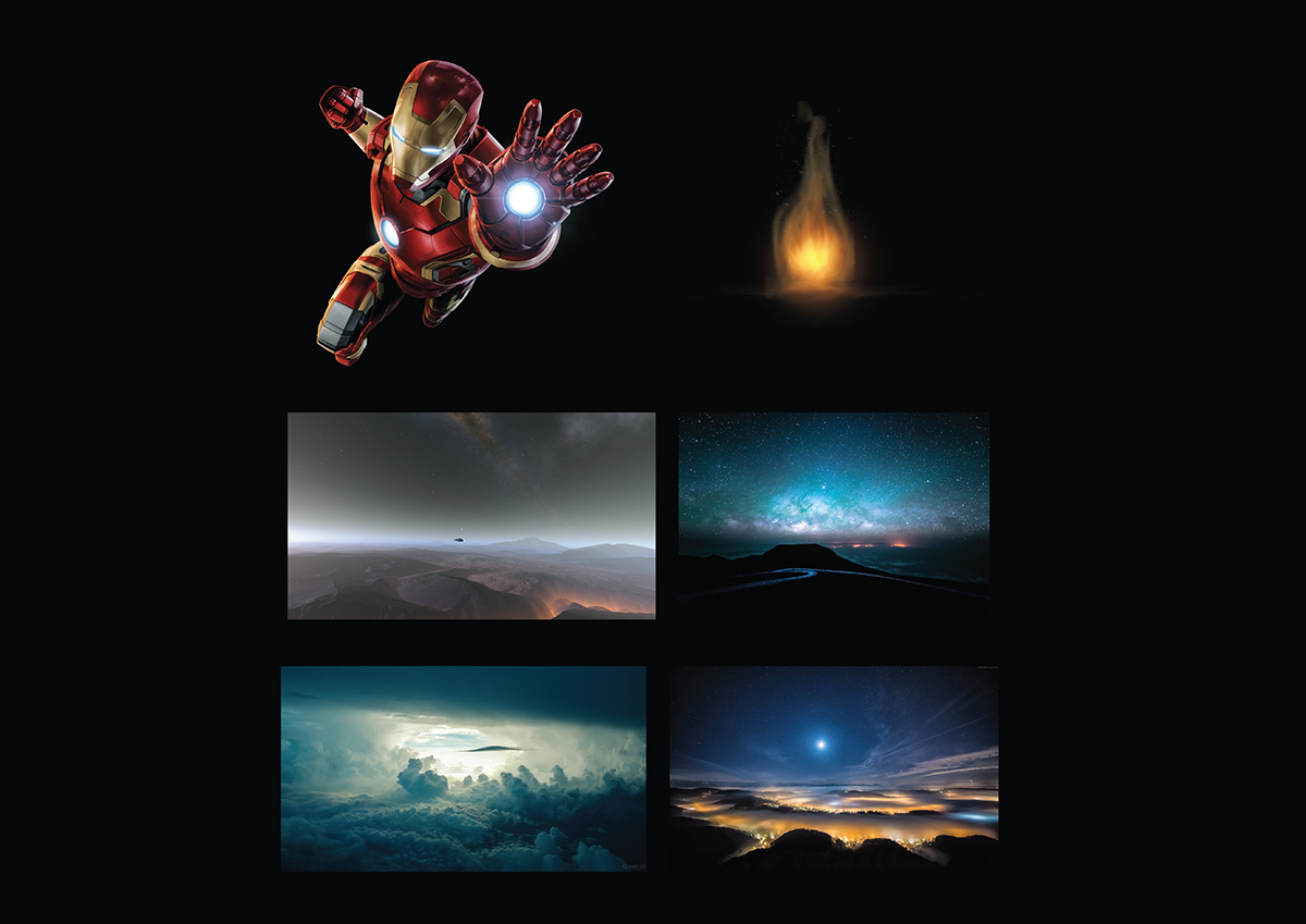 IRONMAN Fan art compositing with cosplay on Pantone Canvas