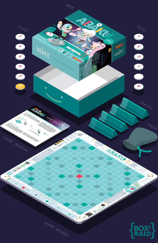 boardgame abaku mindok kawaii cyber pop Character box product Space  math educational school mathematics