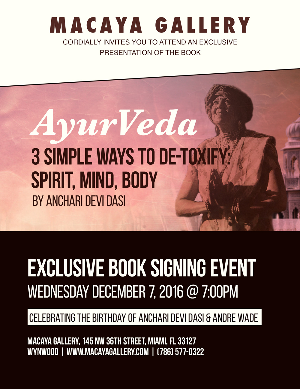 Anchari Book Signing Flyer On Behance