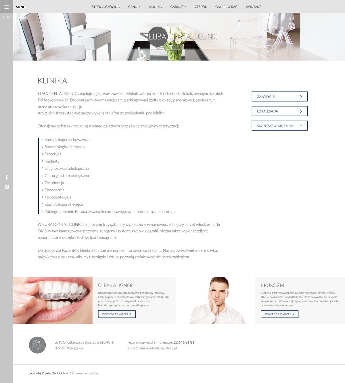 dental clinic dentist doctor Łuba polska warszawa