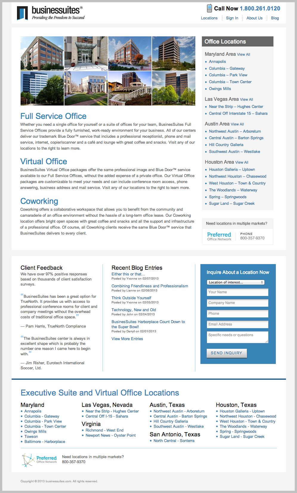 Businessuites Website Redesign On Behance