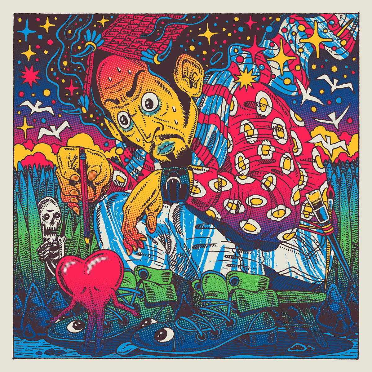 art,japanese,heart,mind,ILLUSTRATION ,Nippon,pencil,skull,gashadokuro