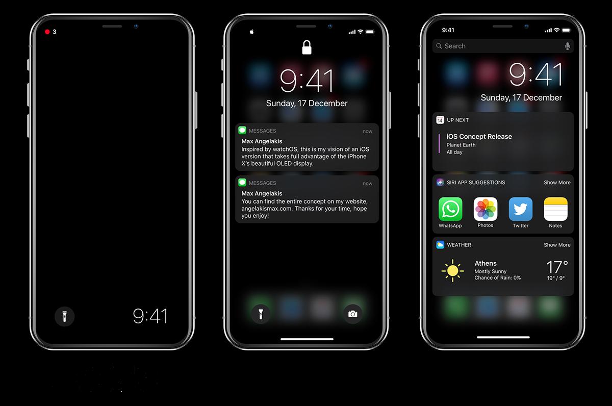 dark mode ios concept iphone iPhone x OLED ios apple concept madethis ios 13