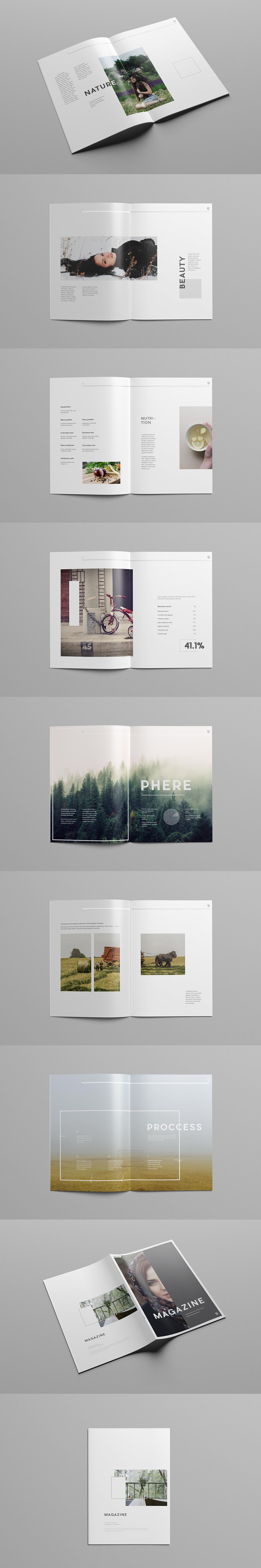 Magazine Template on Behance