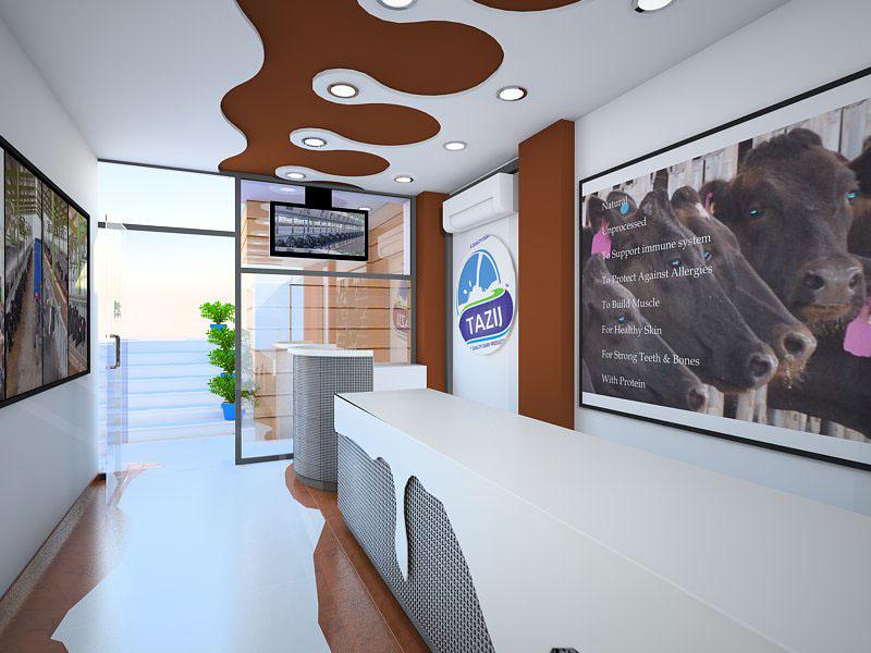 Interior Design - Themed Milk Shop - Islamabad on Behance