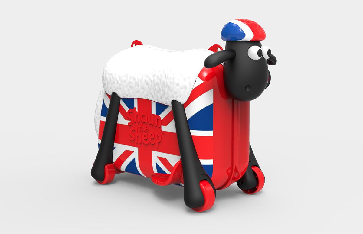 Shaun the Sheep Kids Ride-on Suitcase British Style on Behance