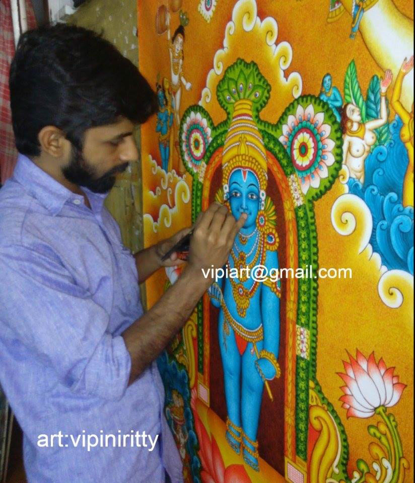 Mural and oil paintings by vipin iritty on behance for Thank you mural