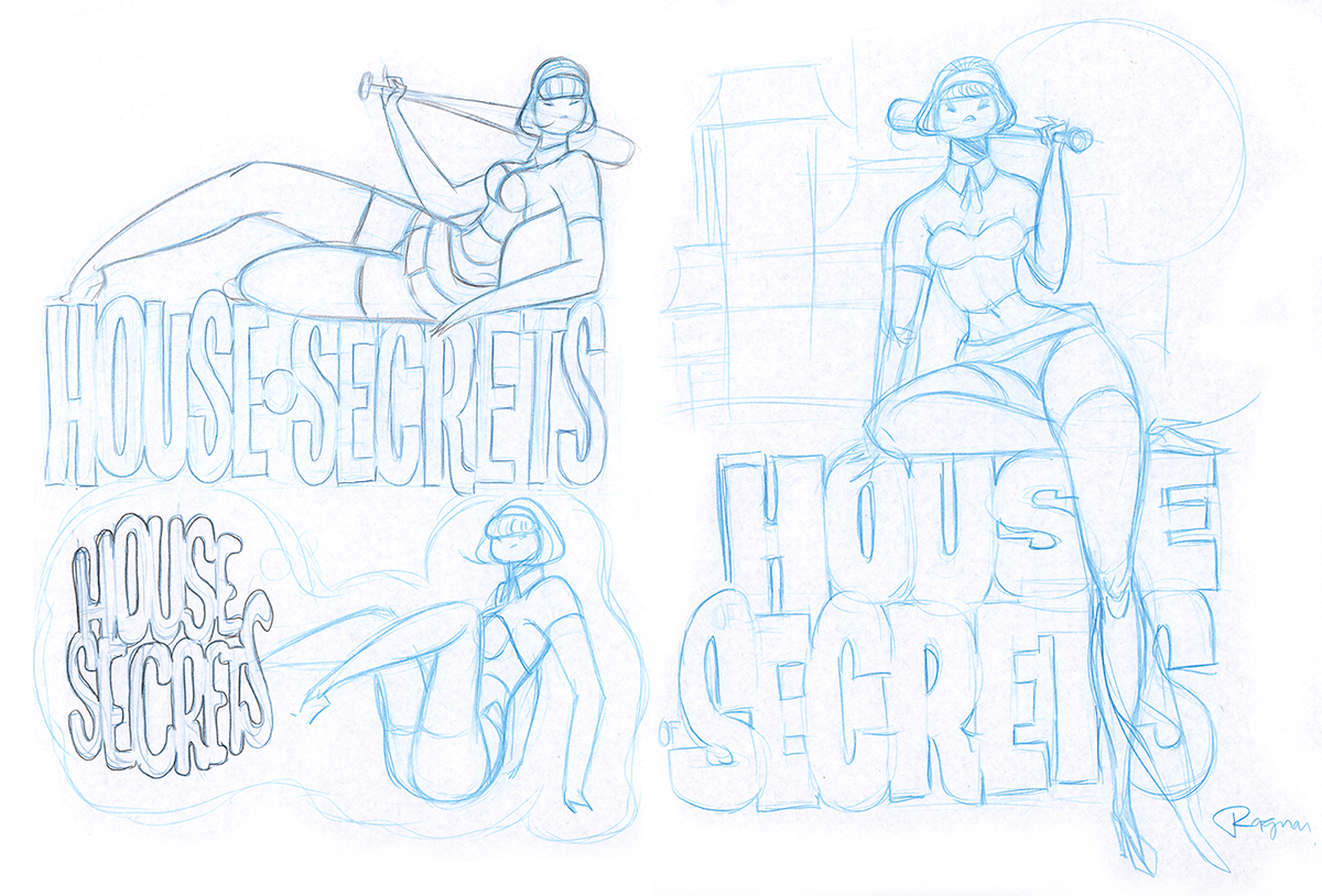 pencils Comps long girls inking