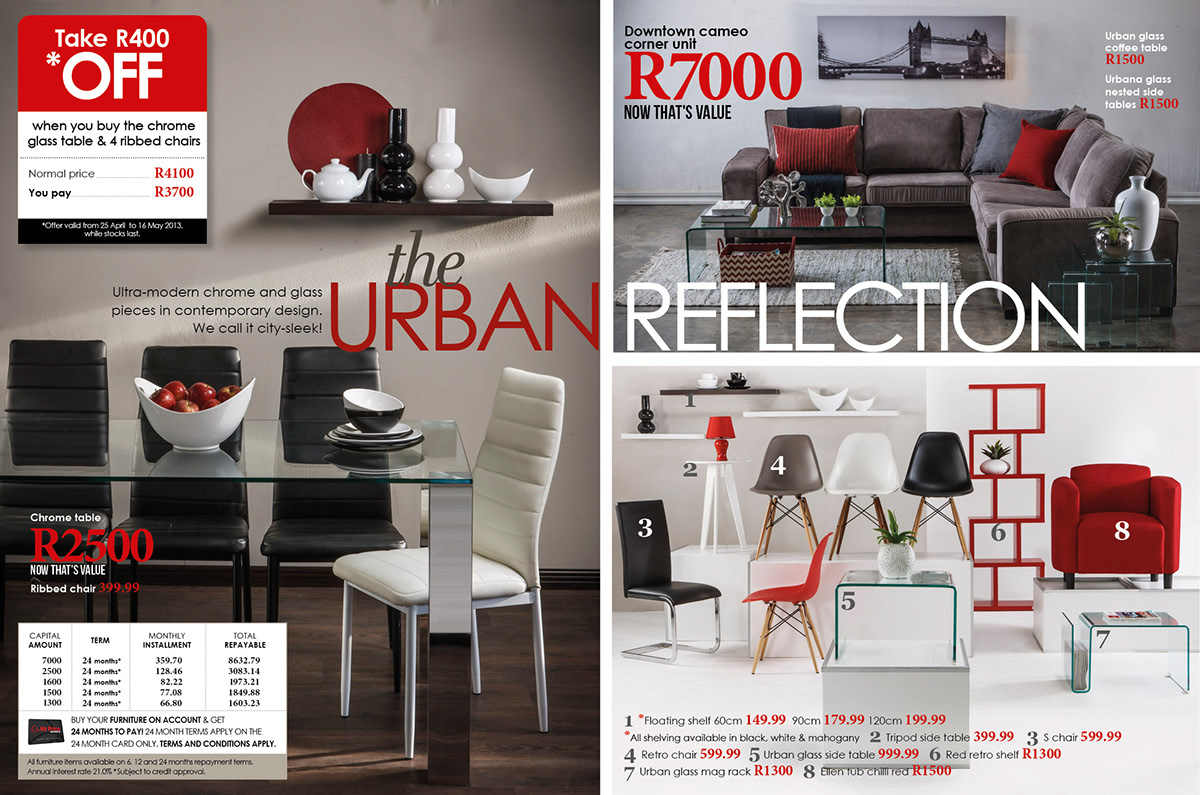 Mr price home furniture catalogue 39 13 on behance for Furniture house catalogue