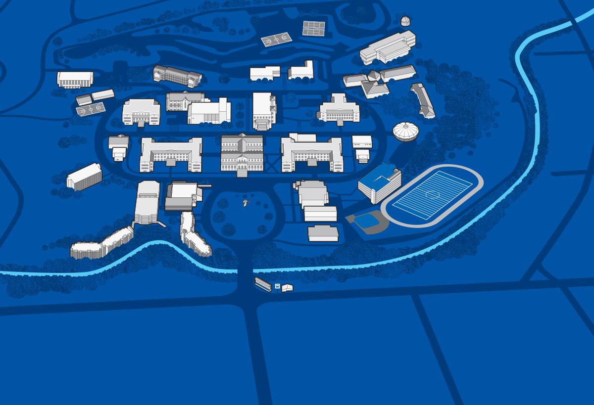 chaminade university campus map Campus Map On Behance chaminade university campus map