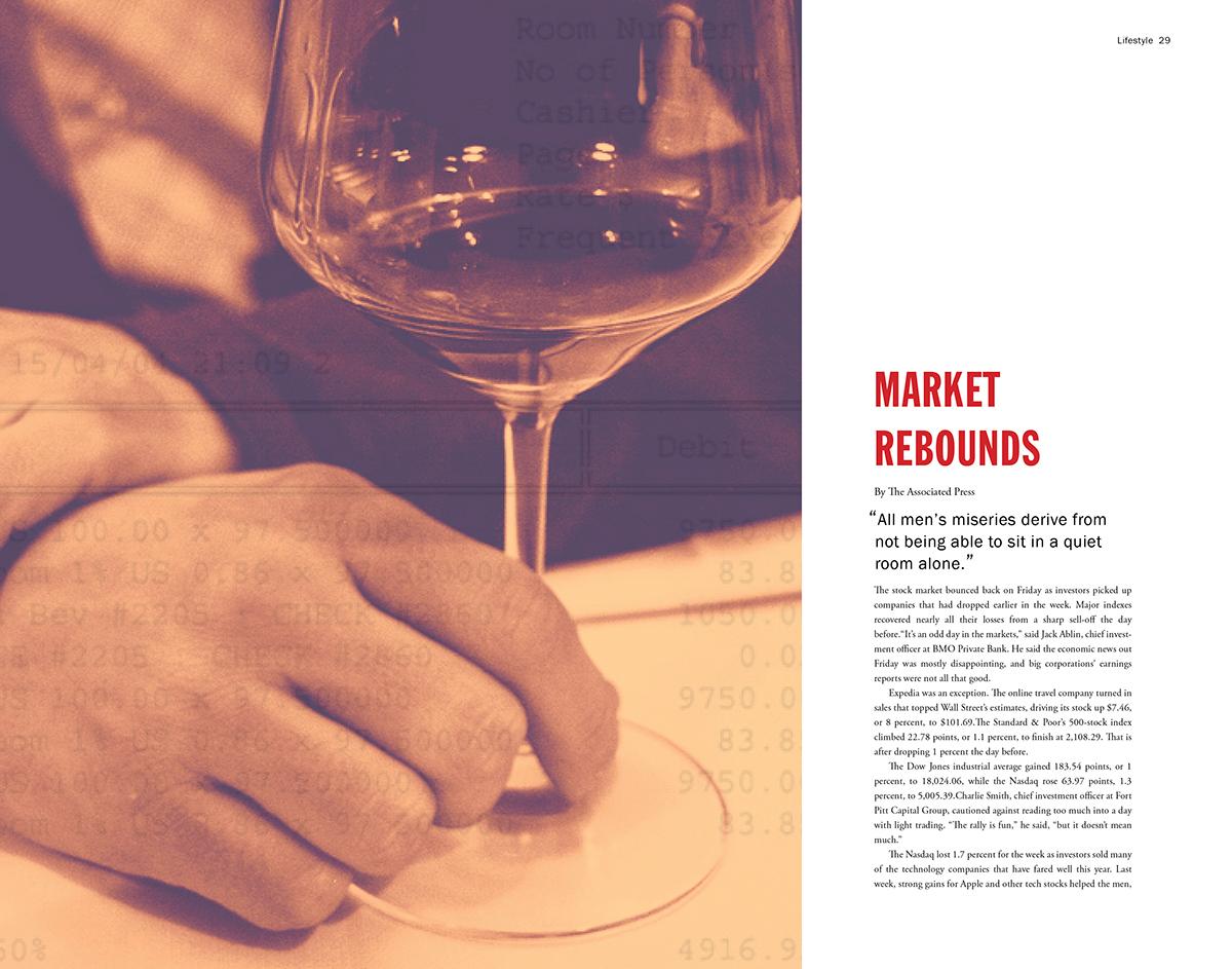wealth emotional wealth magazine layout
