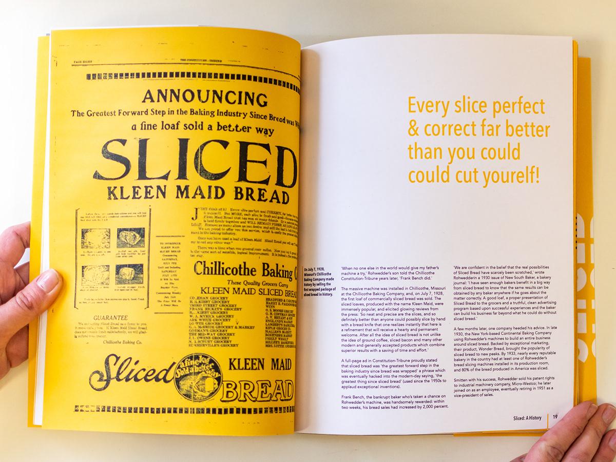Adobe Portfolio istd anniversary sliced bread bread typography   Competition editorial design